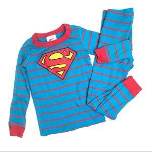 Hanna Andersson Superman Long John Pajama Set 110